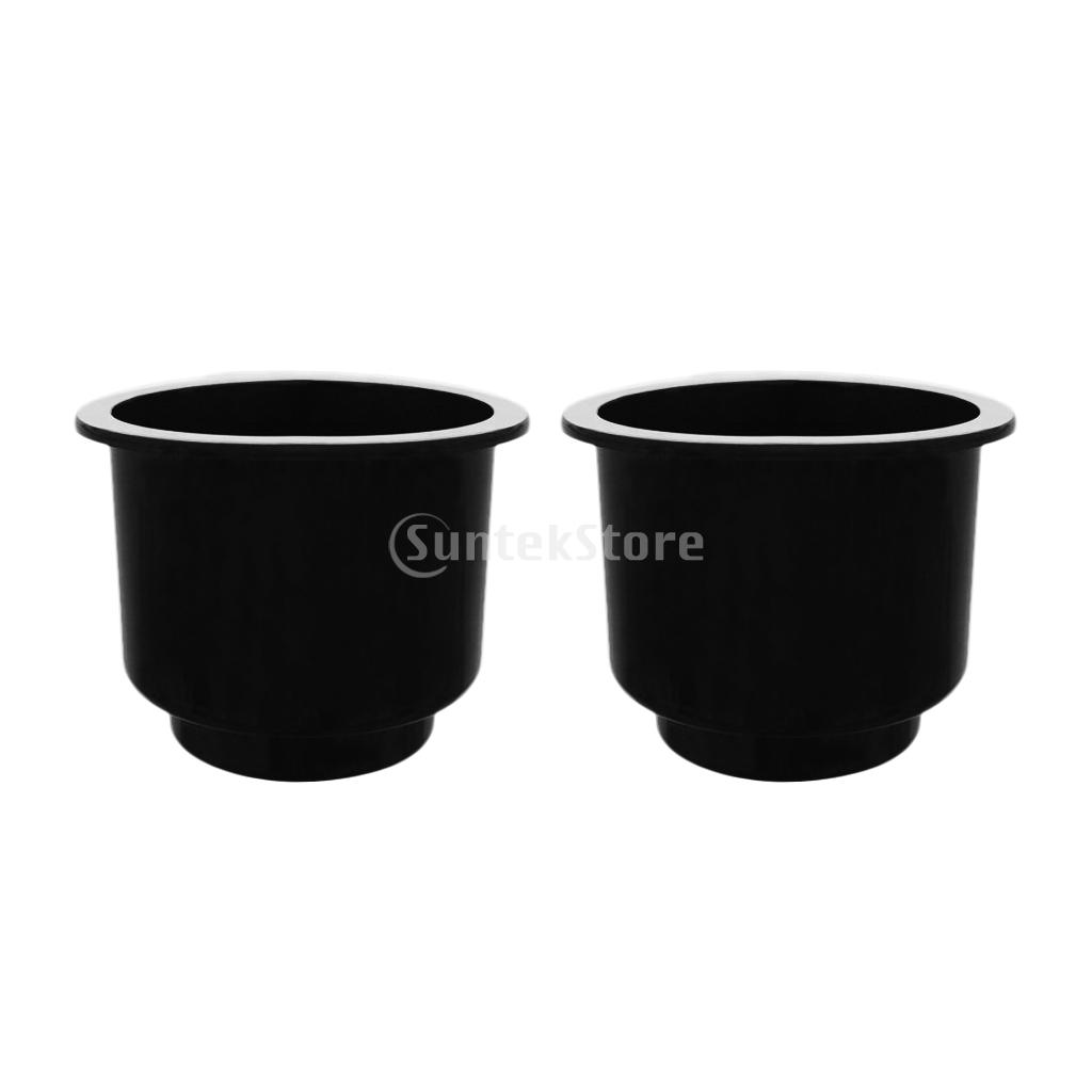 5 Pieces Black Center Hole Recessed Cup Drink Holder for Marine Boat Car RV