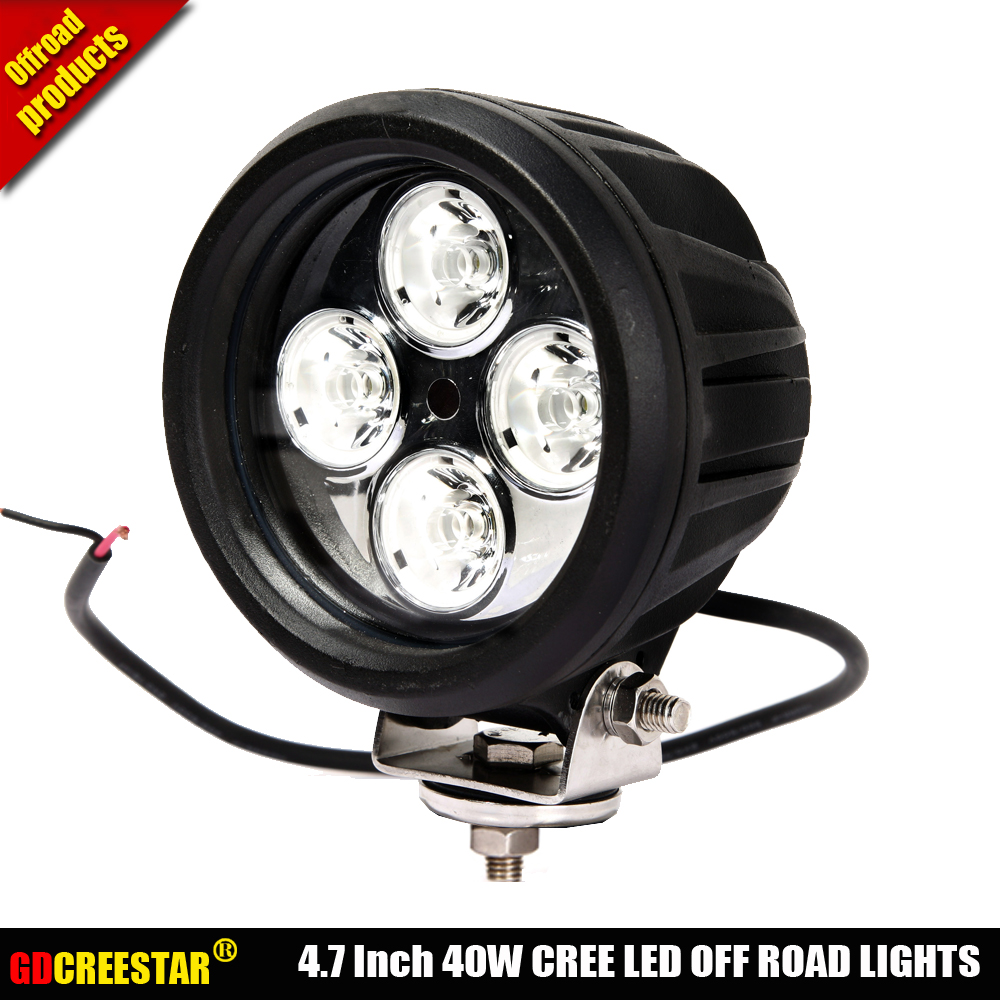 5Inch Round 40W Led Work Fog Lamp 12V 24V Spot Flood Led Driving Light Used For SUV ATV Truck UTV Offroad lamp x1pc Free Ship