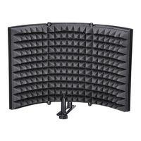 DIKER Katlanır stüdyo mikrofonu İzolasyon Kalkanı Kayıt Ses Emici Köpük Paneli