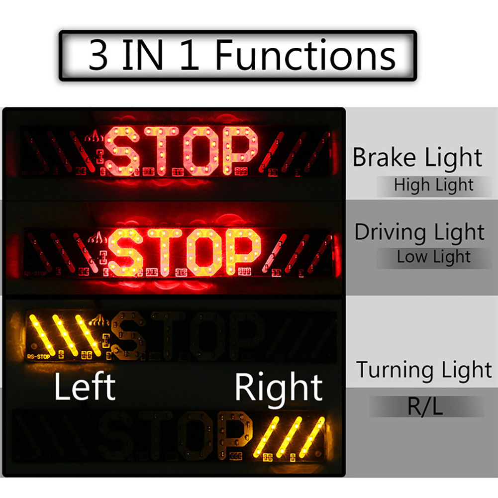 Drl-Lamp Stop License-Plate-Light Brake-Turn-Signal Motorcycle Universal Stripe LED 3-In-1 title=