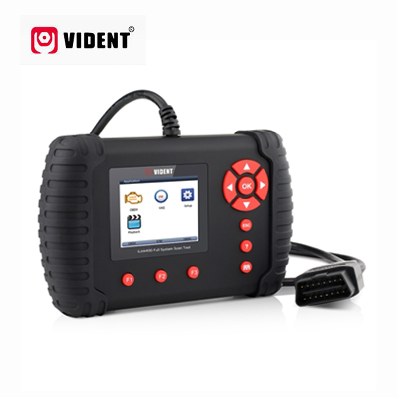 VIDENT iLink400 Automobile Complète Du Système Scanner 12 V OBDII, ABS/SRS/EPB/Transmission De Diagnostic DPF Régénération Mieux que NT510