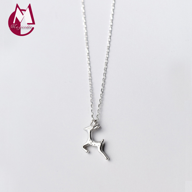 925 sterling silver necklace for women original design deer elk 925 sterling silver necklace for women original design deer elk necklaces pendant animal moose jewelry aloadofball Images