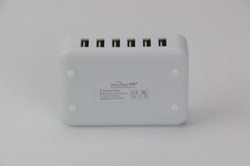 USB 2.0 con salida 5V 1A 2A Entrada AC 100-240V 6 puertos Cargador - Periféricos de la computadora - foto 3
