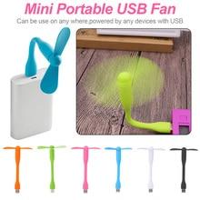 Горячая милый USB вентилятор гибкий портативный съемный USB мини вентилятор для всех банк питания USB выход USB гаджеты крутой
