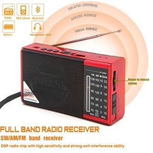 Image 2 - JINSERTA מיני FM AM SW רדיו מקלט אלחוטי Bluetooth רמקול תמיכת TF כרטיס U דיסק לשחק עם 3.5mm אוזניות שקע