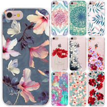Mandala Bloem Soft TPU Cover Case Voor Apple iPhone 6 S 6 7 8 Plus 5 5 S SE X XS XR XS MAX Sexy Rose Bloemen Silicon Telefoon Gevallen(China)