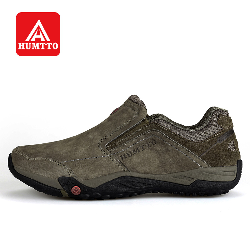 HUMTTO Outdoor Walking Shoes Men Trekking Climbing Camping Leather Sneakers Winter Sports Light Non-slip Wearable