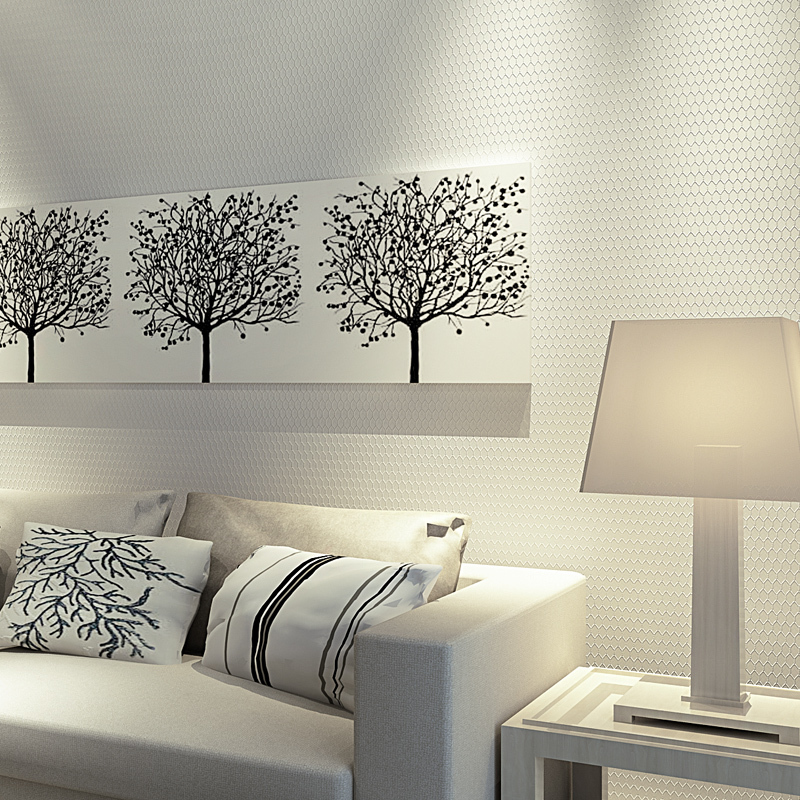 Wall paper pune modern minimalist elegance diamond lattice for Minimalist living bedroom
