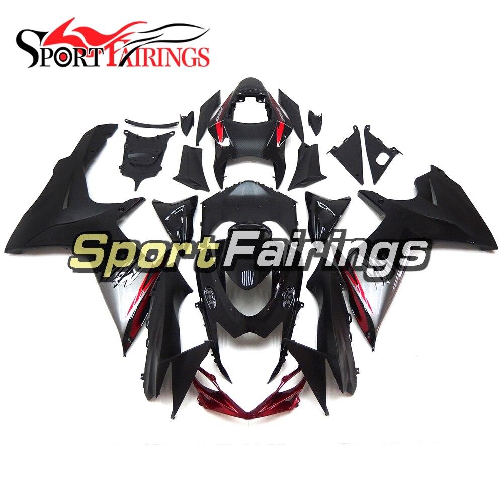 Инжекторный для Suzuki GSXR600 GSXR750 K11, 11, 12, 13, 14, 2011- ABS Пластик мотоцикл полный обтекатель с комплектом кузова черный