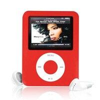 Multi Taal Slanke MP3 8 GB 1.8 LCD Media Video Game Film Radio FM 3th Generatie Mp4-speler + USB Kabel + Oordopjes groothandel