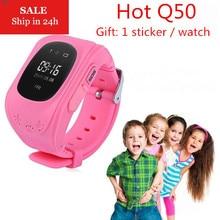 New Smart Phone Watch Children Kid Wristwatch Q50 GSM GPRS GPS Locator Tracker Anti Lost Smartwatch