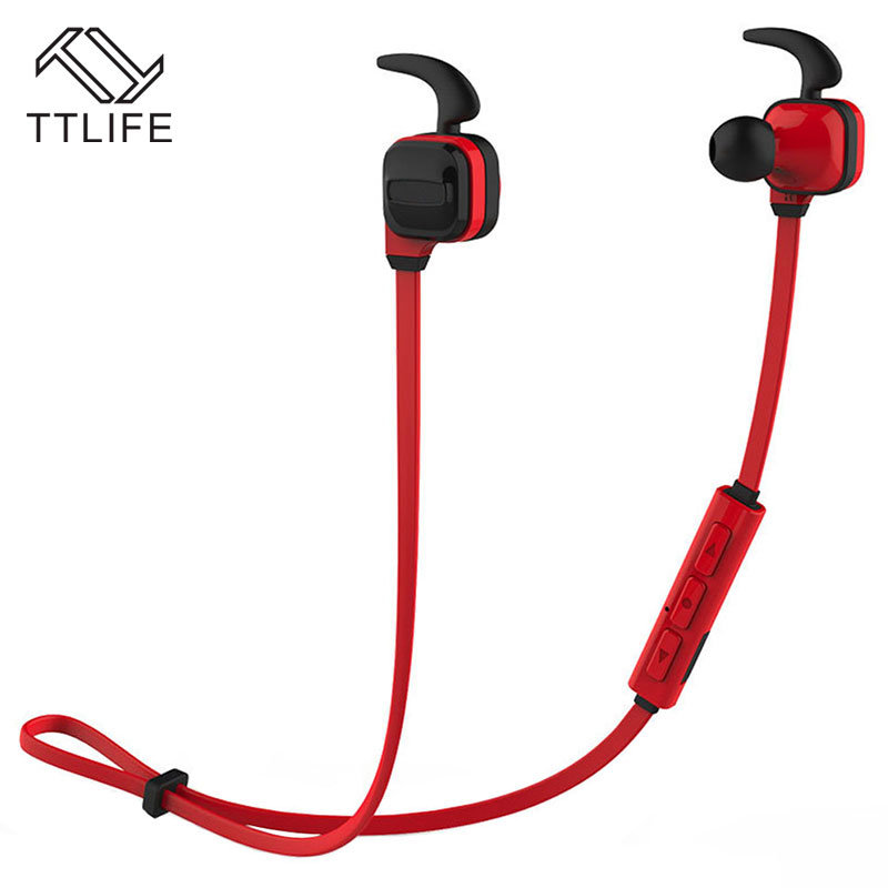 TTLIFE Bluetooth 4.1 Stereo Earphone Wireless Sport Headset Support 4 languages Noise cancelling Headphone with Mic for iphone 7 ttlife bluetooth earphone