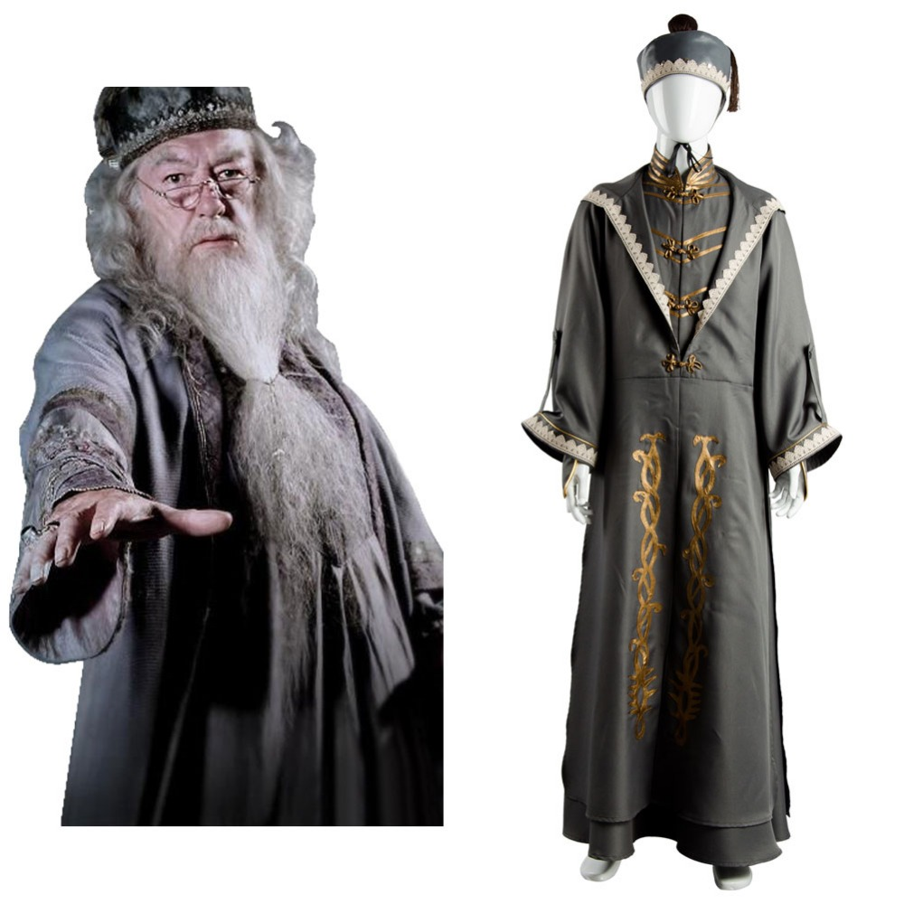 Hogwarts School Albus Dumbledore principal uniform Harry Potter cosplay costumes