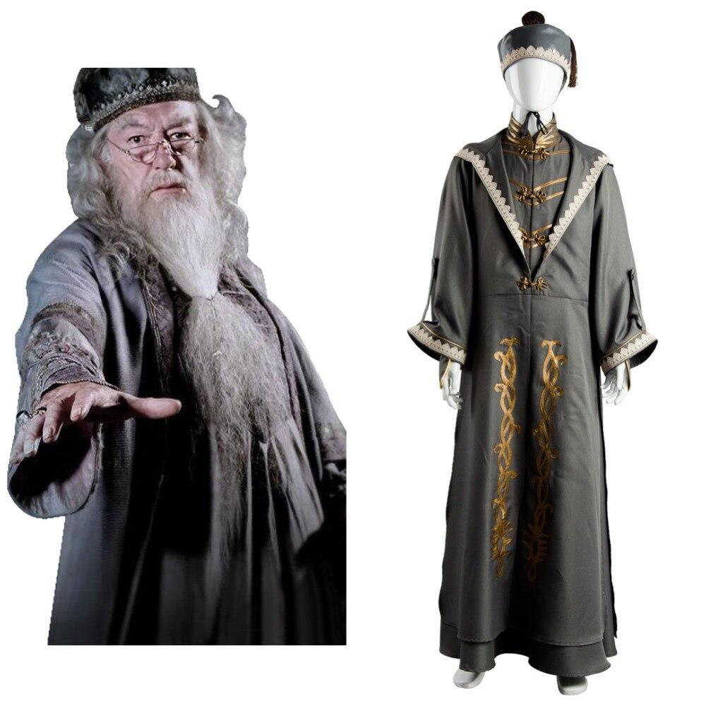Albus Silente Cosplay Uomini Adulti Donne Robe Costume Halloween Costume Cosplay Con Il Cappello Set Completo