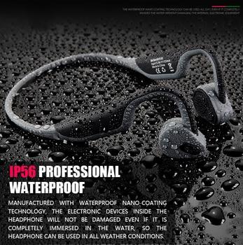 2019 Hot original Sales Waterproof Bone Conduction BH128 Bluetooth V5.0 Neck-strap Earphones Intelligent Noise Reduction
