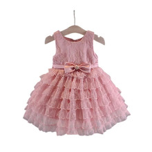 Kids Baby Girl Clothes Sleeveless Little Girls Princess Dress For wedding party 12M 15M 18M 1 2 3Years Old