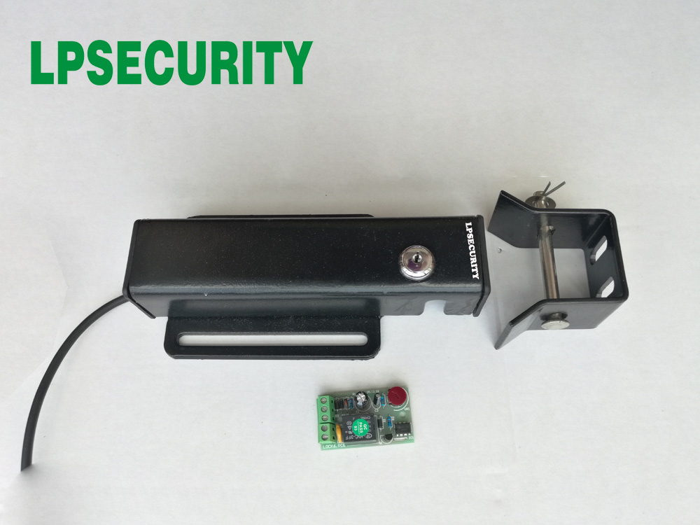 LPSECURITY 12VDC Electric Swing Gate Latch Lock With Control Board For Time Relay