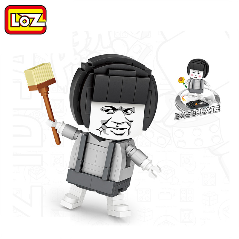 LOZ Marvel Blocks Toys For Children Boys Girls 164Pcs Assemblage Playmobil Mini Head Figure Children Building Blocks 1462