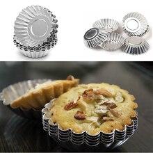10pcs Egg Tart Aluminum Cupcake Cake Cookie Mold Line Tin Bakeware