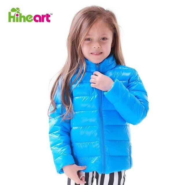 HIHEART 2016 Весенняя мода марка дети вниз парка младенца вниз пальто малыша вскользь теплая вниз верхней одежды ребенка зажигать вниз куртка