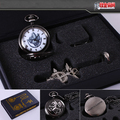 HOT Anime Fullmetal Alchemist Cosplay Costume Pocket Watch & Necklace & Ring Gift Collectible