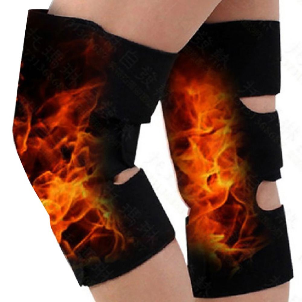 2Pcs Tourmaline Health Care Magnetic Therapy Self-heating Knee Pads Professional Knee Support Protection Fitness Running Supply