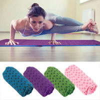 Sport Fitness Exercise Plum Anti Skid Yoga Massage Mat Cover Towel Blanket Thick Folding Floor Play