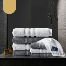 2piece Five star hotel towel cotton thickened washcloth soft absorbent cotton household instant dry big towel недорого