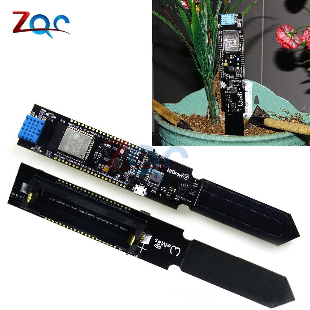 ESP32 CP2104 WI-FI <font><b>Bluetooth</b></font> DHT11 Температура Влажность влажности почвы Сенсор модуль обнаружения для Arduino 18650 Батарея щит