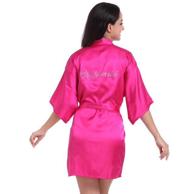 Tienda Online Nuevo azul marino novia dama robe vestido mujeres ...