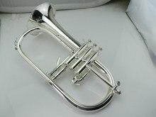 Высококачественным Флюгельгорн посеребренный Bflat профессиональный труба Топ Музыкальные инструменты в латунь trompete рог бесплатная доставка
