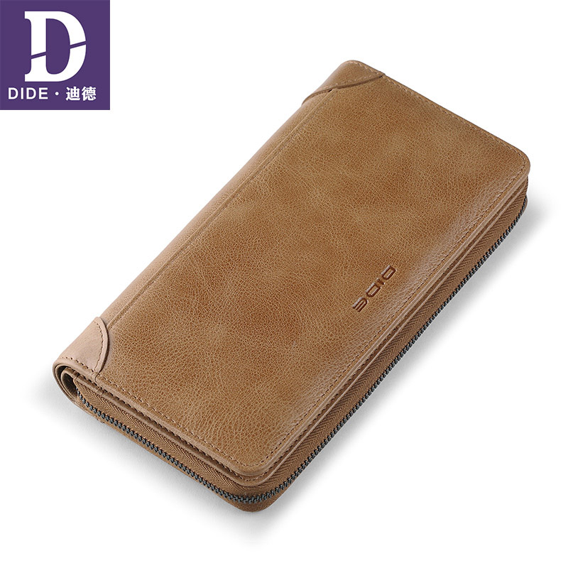DIDE Coin Purse Wallet Travel Genuine-Leather Phone-Organizer Carder-Holder Business