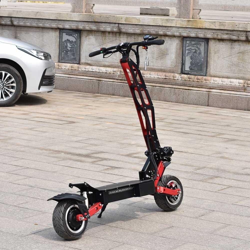 Ville scooter meilleur scooter bon marché citycoco 2 roue fat tire vélo électrique 3200 W 60 V avec Voltmètre