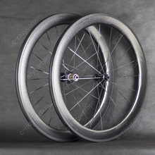 משלוח חינם המוערכים גלגל גומת פחמן גלגלי 45/50/58/80mm פחמן גלגל 700C הטוב ביותר תקציב למכירה עם Ridea הילוך קבוע רכזות