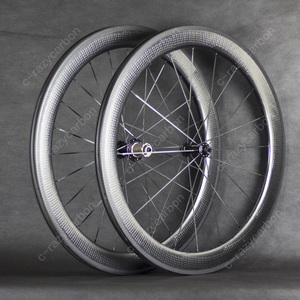 Image 1 - Free Shipping Valued Wheel Dimple Carbon Wheels 45/50/58/80mm Carbon Wheel 700C Best Budget For Sale with Ridea Fixed Gear Hubs