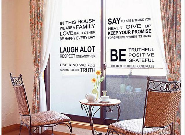 Warme familie engels tekst stickers poëzie creatieve woonkamer ...