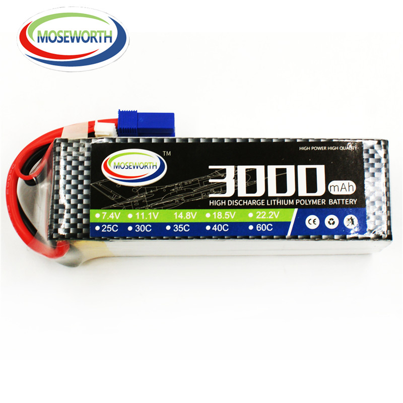 MOSEWORTH 6S RC Lipo Battery 22.2v 60C 3000mAh For RC Aircraft Helicopter Airplane Quadcopter Boat Drones Car Li-polymer 6S AKKU 3pcs battery and european regulation charger with 1 cable 3 line for mjx b3 helicopter 7 4v 1800mah 25c aircraft parts