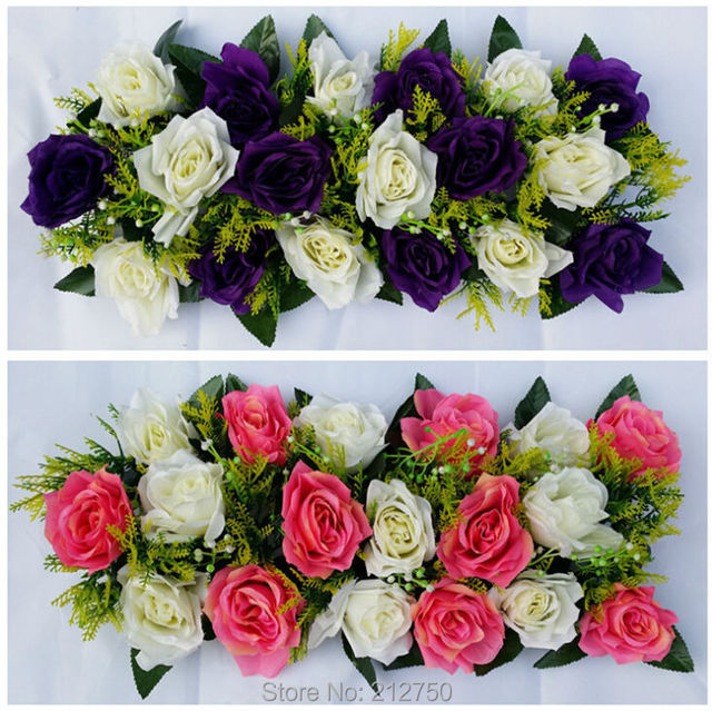 Wholesale ems free shipping full flower head artificial rose arch wholesale ems free shipping full flower head artificial rose arch flower wedding decoration supplies 100pcs junglespirit Image collections