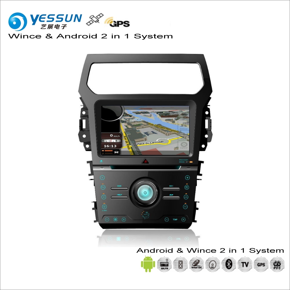 YESSUN For Ford Explorer 2011~2014 Car Android Multimedia Radio CD DVD Player GPS Navi Map Navigation Audio Video Stereo System yessun for mazda cx 5 2017 2018 android car navigation gps hd touch screen audio video radio stereo multimedia player no cd dvd