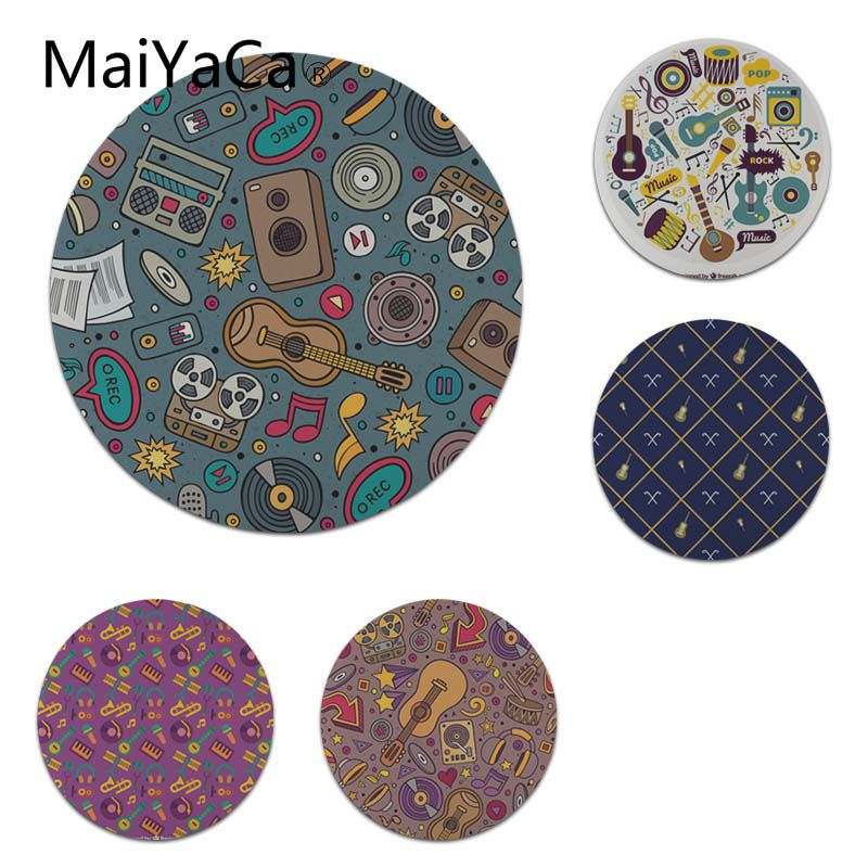 MaiYaCa New Printed Musical Instrument Guitar Laptop Computer Mousepad Size for 20x20cm 22x22cm Small Mousepad