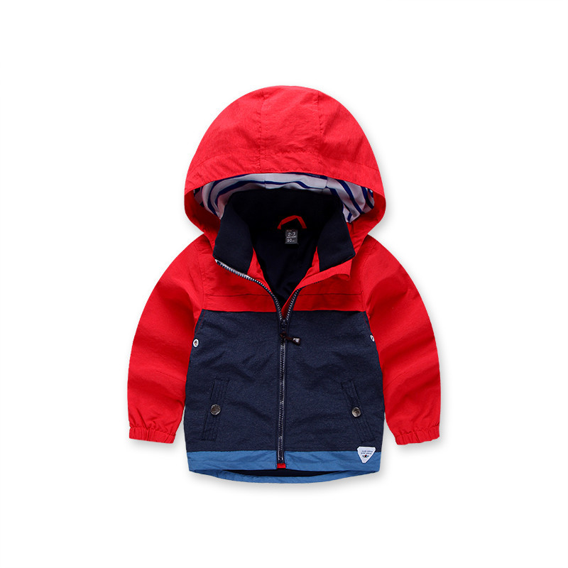Mioigee 2018 новая куртка для мальчиков детская Костюмы детские пальто с капюшоном Детская ветровка для Верхняя одежда и пальто для мальчика вет...
