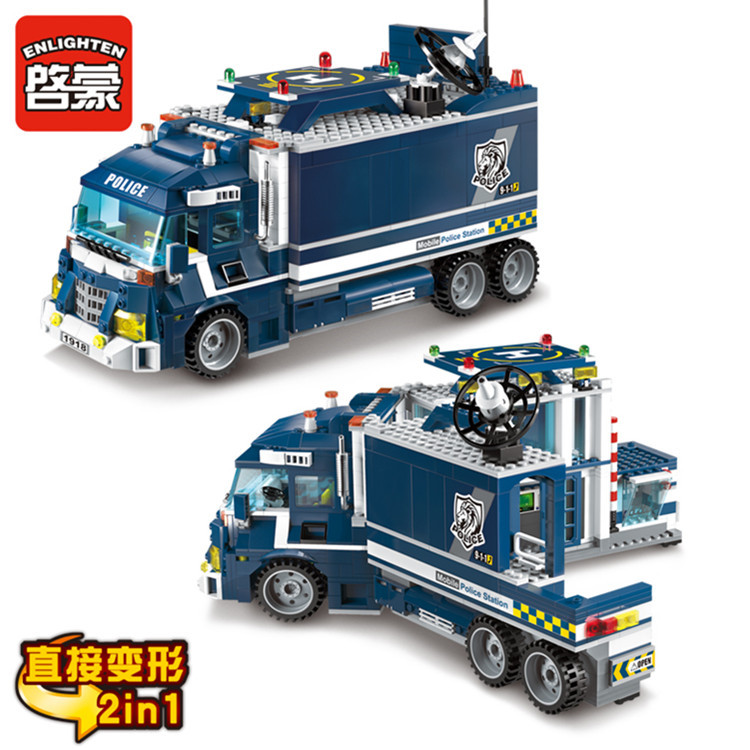 City Police Station Motorbike Helicopter Model Building Bricks Kits City 60047 toys for children education in Model Building Kits from Toys Hobbies