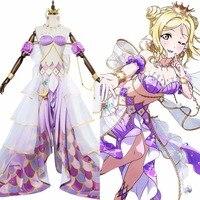 LoveLive Sunshine!! Mari Ohara Cosplay Mermaid Awaken G's Magazine Costume Dress Halloween Carnival Anime LL Costume Grils Women