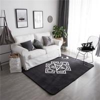 Fashion White Stars Pattern 1pcs Soft Door Mat Floor Carpet For Living Room Coral Fleece Rug Anti Slip Doormat Home Decoration