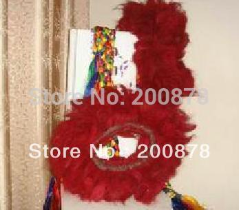 L072 Tibet Mastiff yak`s rambut kerah merah-Kekhor, Zangao's Collar ekstra besar, 6 lapisan, mantan-leher anjing kerah leher, MOQ rendah
