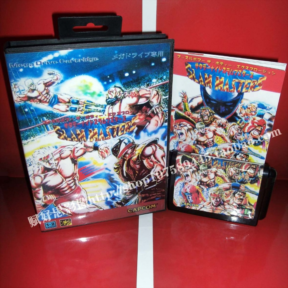 Slam Masters Game cartridge with Box and Manual 16 bit MD card for Sega Mega Drive for Genesis