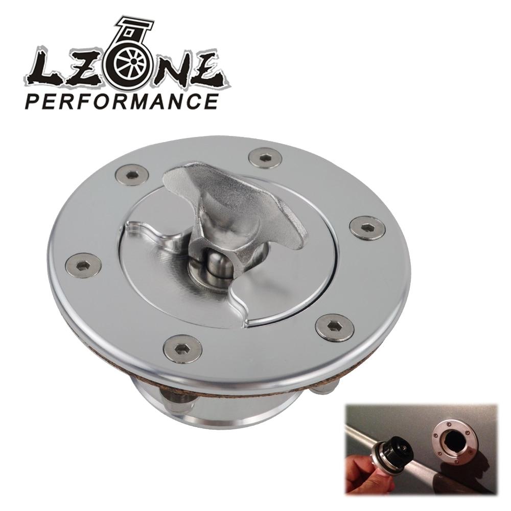 LZONE-En Aluminium Billet Pile à Combustible/Carburant Réservoir Tampon Cap Encastré 6 boulon Miroir Poli Ouverture ID 35.5mm JR-SLYXG01-N