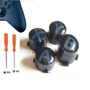 Image 2 - Custom For Xbox One Slim Elite Controller ABXY button Kit Bullet Buttons Repair Parts Mod Kit Replacement W/ T8 T6 Screw Driver