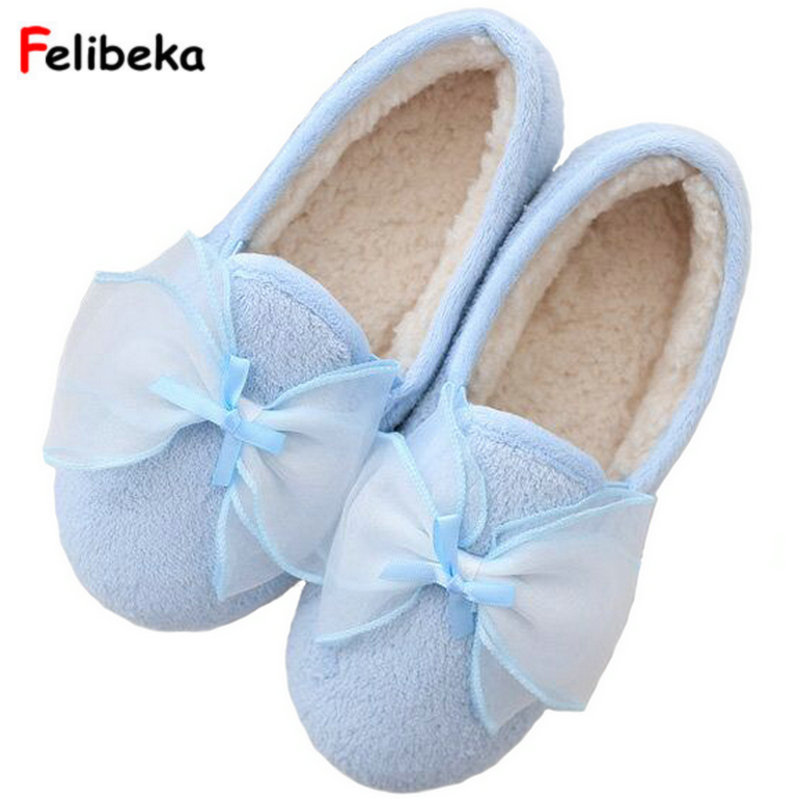 Drop shipping Flock Bow Slippers Home Spring/winter warm Sides Indoor Breathable House Women Shoes pink/pruple embroider flock indoor slippers winter home furry fuzzy womens house with fur mules women bow plush flat shoes feathers s170