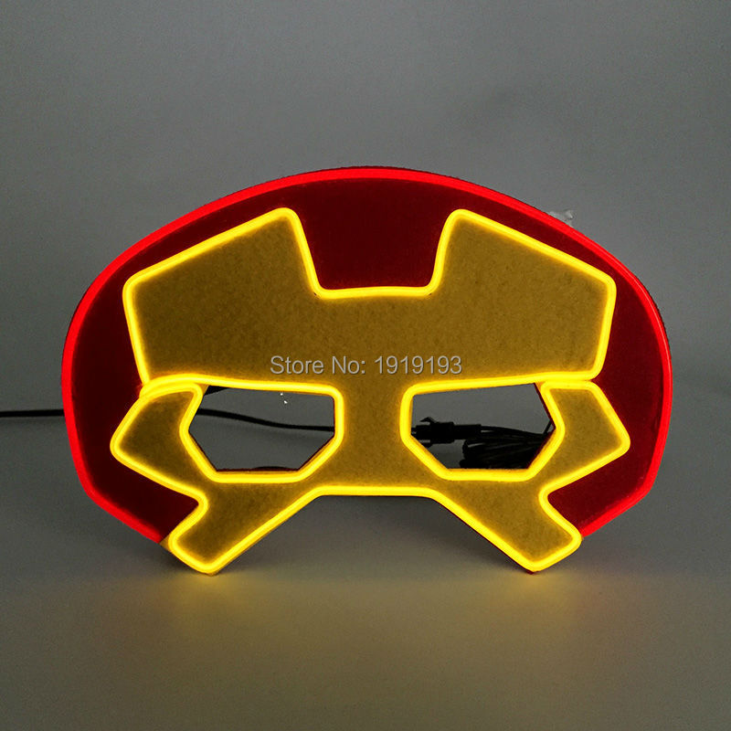 New Arrival Euroamerican Style Movie Hero EL Felt Mask Holiday Lighting LED Neon Sound Activated Mask for Christmas, Birthday